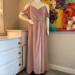 Watters & Watters Aldridge Gown in Dusty Pink
